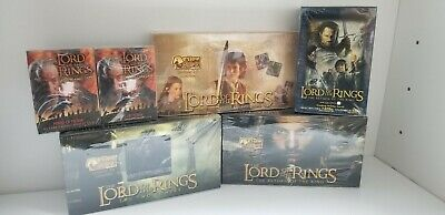 7 Box LOT The Lord Of the Rings, Return, Fellowship, Two Towers, Tin, Hobby deck