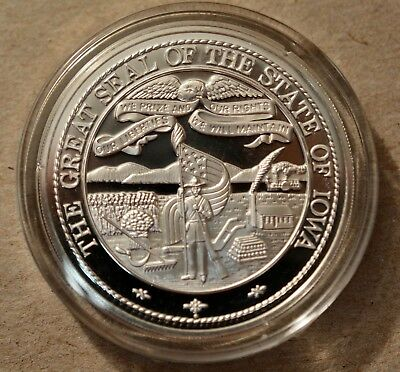 The Great Seal Of Iowa  Terrace Hill Preservation 1972 Coin Medal Art, Ny.