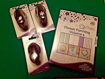 Fleurs Flower Forming My Craft Studio CD with 3 paper punches Tattered Lace
