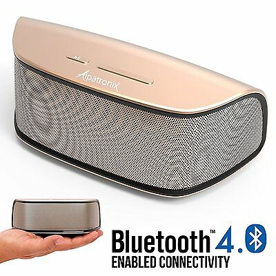 Alpatronix 10W Rechargeable Portable Mini Wireless Bluetooth Stereo Speaker Bass