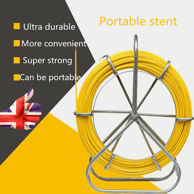 Cable Puller Fiber Glass Wire Snake Rod Duct Electric Tape Rodder 6 mm 130 m