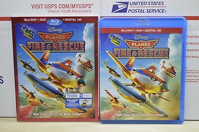 Planes: Fire  Rescue (Blu-ray/DVD, 2-Disc Set, Includes Slip Cover) Disney OOP