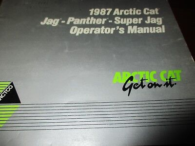 Arctic Cat Jag-Panther-Super Jag Snowmobiles Operator's Manual 1987