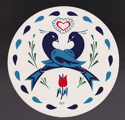 Love & Friendship Hex Sign handcrafted PA Dutch Country by Jacob Zook Hexologist