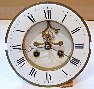 Antique French Marti Clock Mechanical Movement Dial Hands for Repair Spare Parts