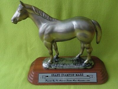 AQHA Quarter Horse GRAND Champion Silver / Pewter Trophy Statue~Syracuse, NY~NR
