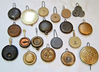 Mixed Lot Antique Vintage Clock Pendulum Weight Spare Parts Repair Mantel Shelf