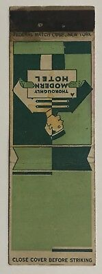 """Vintage """"A THOROUGHLY MODERN HOTEL"""" Matchbook Cover"""