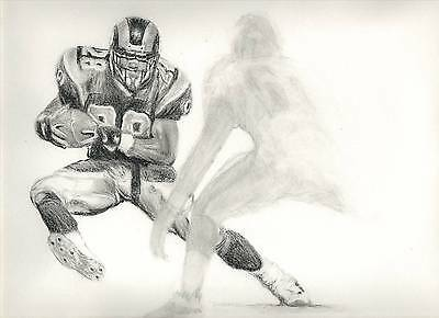 NFL St. Louis Rams Marshall Faulk GloryBound Drawing by Stangarone. Free S&H