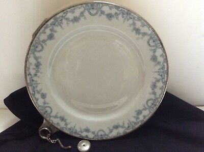 Antique Hot Water Warming Plate.. Porcelain.. Very Interesting Piece!!