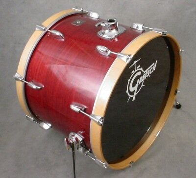 """Gretsch Square Badge Catalina Maple 22"""" Cherry Lacquer Bass Drum"""