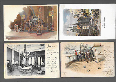 German  Postcars Vintage Lot Of 4 From 1899 #3
