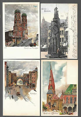 German  Postcars Vintage Lot Of 4 From 1899 #6