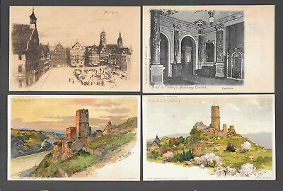 German  Postcars Vintage Lot Of 4 From 1899 -1902  #13