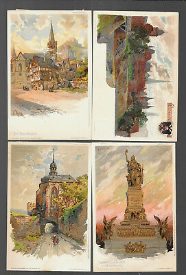 German  Postcars Vintage Lot Of 4 From 1899 -1902  #12