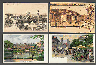 German  Postcars Vintage Lot Of 4 From 1899 -1902  #10