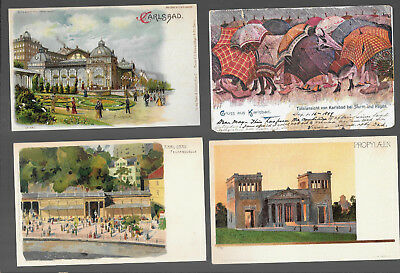 German  Postcars Vintage Lot Of 4 From 1899 -1902  #18
