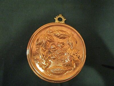 Vintage Copper Mold With Acorns and Leaves in an Autumn Design