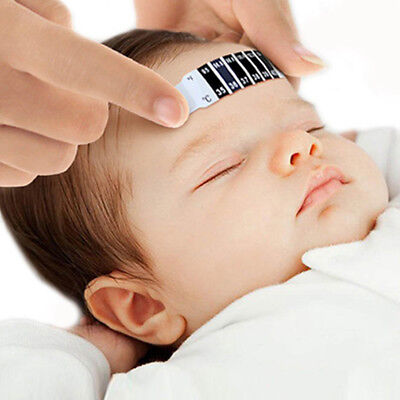 Forehead Fever Thermometer Strip Baby Children Body Head Temperature Test 6A
