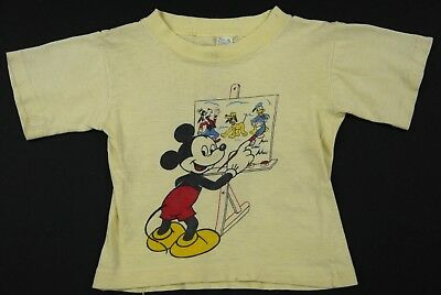 rare VINTAGE 50s 60s MICKEY MOUSE t shirt WALT DISNEY BONNIE TOGS toddler kids