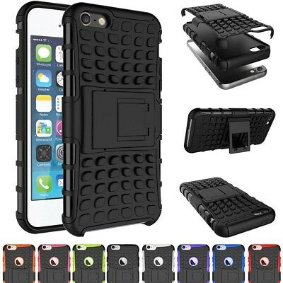 For Apple iPhone 6/s Plus Shockproof TPU Rubber Protective Case Hard Stand Cover