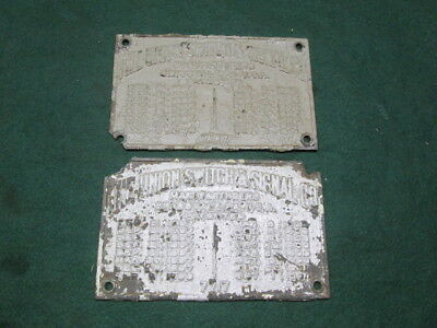 2 The Union Switch & Signal Co Cast Iron Name Plates Old Railroad Signals