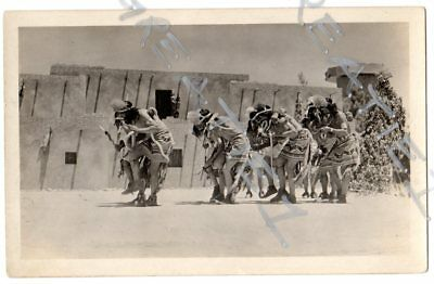 Great Historic RPPC real photo American Hopi Indians Snake Dance Arizona Pueblo#