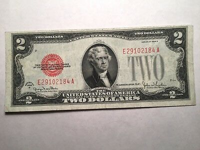 1928 $2 Red Seal Us Note - Xf Crisp - Nice Note!!!!
