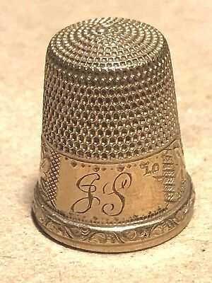 Vtg Sewing Thimble 10k Yellow Gold 5 Grams ENGRAVED  Simon Brothers ? Antique