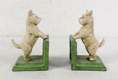 Vintage Pair Cast Iron Terrior Dog Bookends