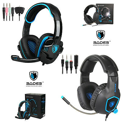 SADES SA-708GT Gaming Headset Stereo Headphone For PS4 Xbox One/360 PC with Mic