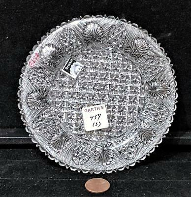 "Antique Lacy Glass ""Fans + Arches"" Plate, c. 1830"