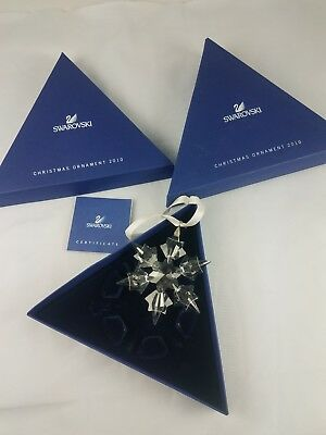 Damaged Swarovski Crystal 2010 Large Snowflake Christmas Ornament Damaged