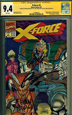 X-Force #1 Cgc 9.4 3X Signed By Stan Lee, Rob Liefeld & Nicieza! Movie Coming!