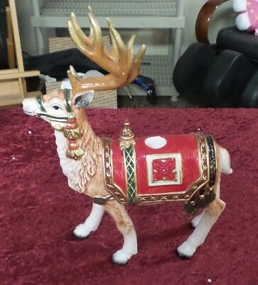 Fitz And Floyd Holiday Tidings Standing Deer Candleholder New