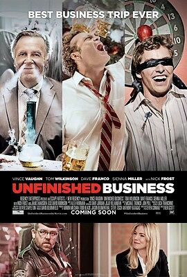 Unfinished Business Original D/S One Sheet Rolled Movie Poster 27x40 NEW 2015