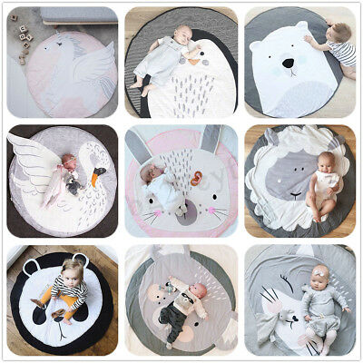 Newborn Baby Kids Play Game Soft Mat Acitivity Crawl Rug Floor Cotton Cushion