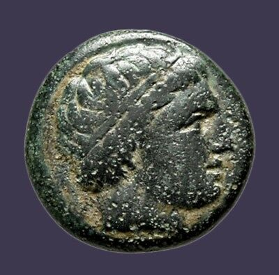 Archaios | Kings of Macedon Philip III Arrhidaios Apollo Horse rider Monogram AE