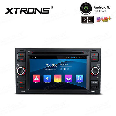 "7"" Quad-Core Android 8.1 Car Stereo DVD GPS RCA OBD2 DAB+ For Ford Focus Fusion"