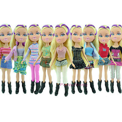 Random 5 Sets Lady Dress Outfit Blouse + Trousers Casual Clothes For Bratz Doll