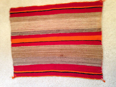 "Navajo Single Saddle Blanket, circa 1930's 34"" x 27"" Native American Textile"