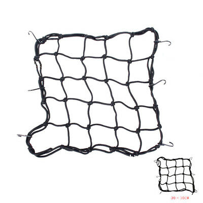 Heavy-Duty Cargo Net for Motorcycles ATVs Premium Bike Bungee Stretch Baggage 6