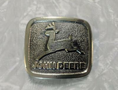 Vintage John Deere Brass Belt Buckle Wyoming Studio Art Works USA
