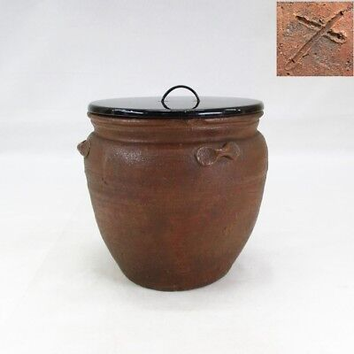 B617: Japanese water jug of really old BIZEN pottery with very good atmosphere