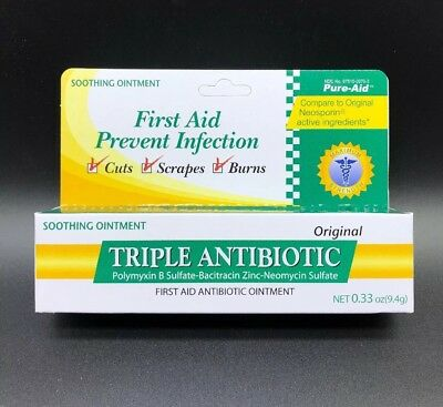FIRST AID PREVENT Infection Triple Antibiotic Ointment Cuts Scrapes Burns  0 33oz