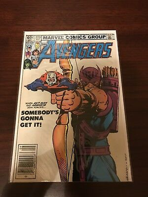 Avengers #223 by Marvel 5.0 FN (1982) Ant-Man & Hawkeye Cover