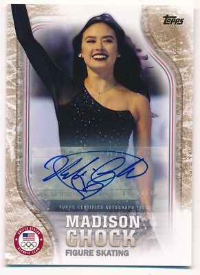 Madison Chock 2018 Topps Us Olympic Gold Autograph Usa Auto Sp #09/25 $120