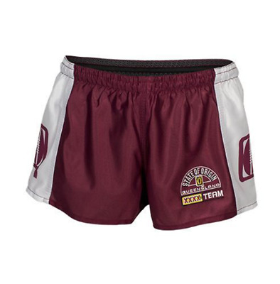 QLD Maroons NRL State Of Origin 2018 Classic Heritage Hero Footy Short Sz S-4XL