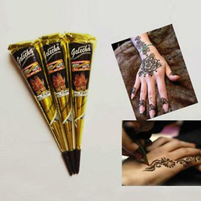 Natural Jet Black Plant Henna Tattoo Paste Into The Dark Deluxe Edition #R