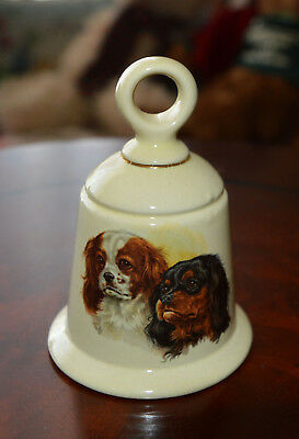Cute Little Porcelain Collectible Bell Pictures 2 Cavalier King Charles Spaniels